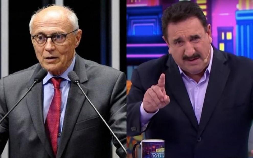 Ratinho pede intervenção militar na TV; Suplicy pede prisão do apresentador