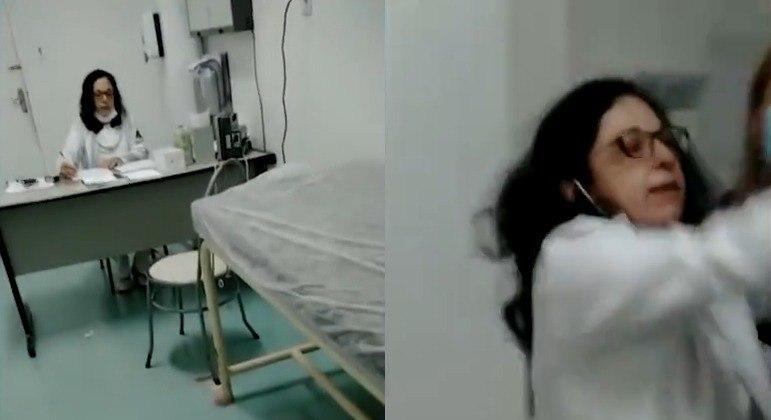 Sem utilizar máscara, médica agride filha de paciente e ignora idosa em SP