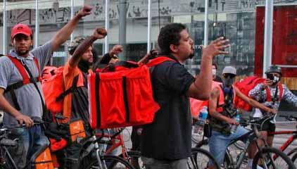 entregadores antifascistas polícia