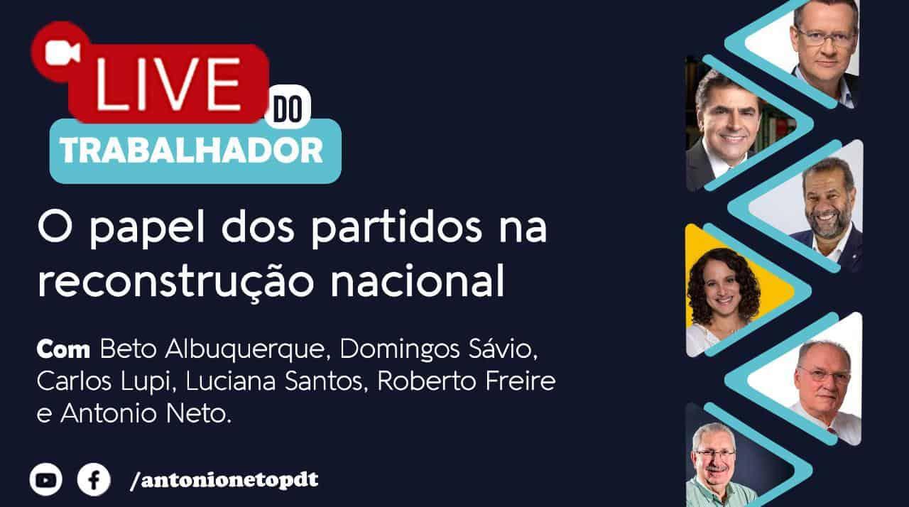 Live do Trabalhador vai reunir PDT, PSDB, PSB, PCdoB e Cidadania