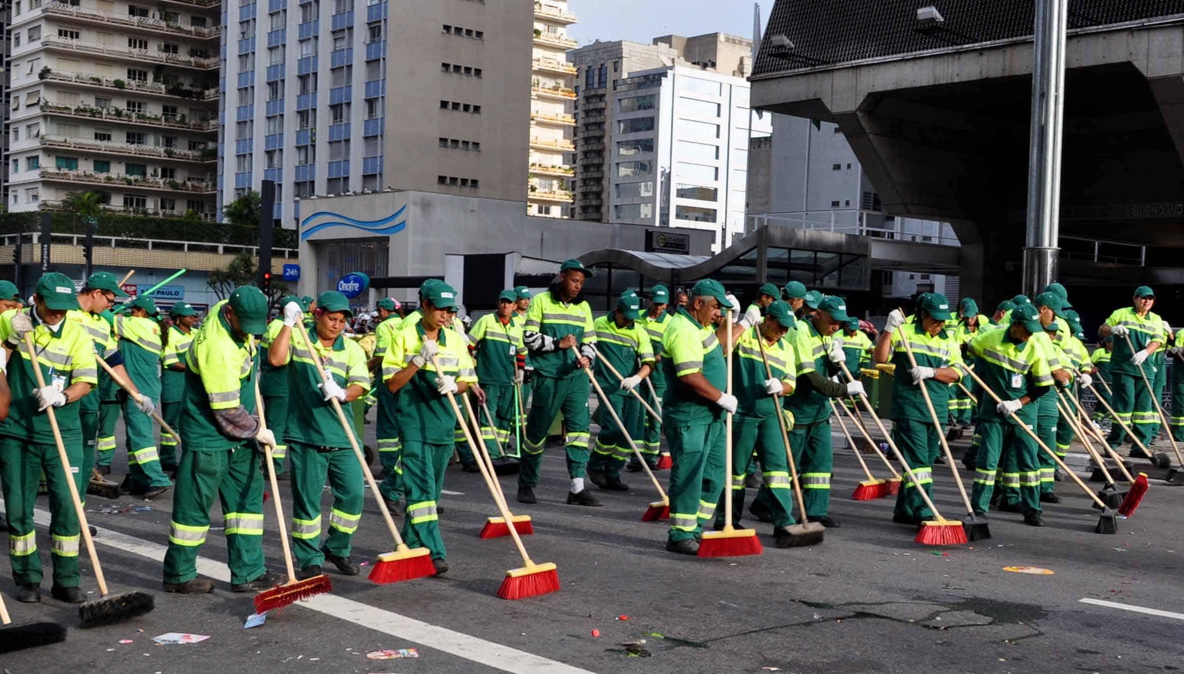 Garis fizeram greve em SP