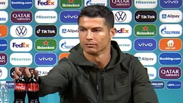Ações da Coca-Cola em NY já caíam antes de Cristiano Ronaldo dar entrevista