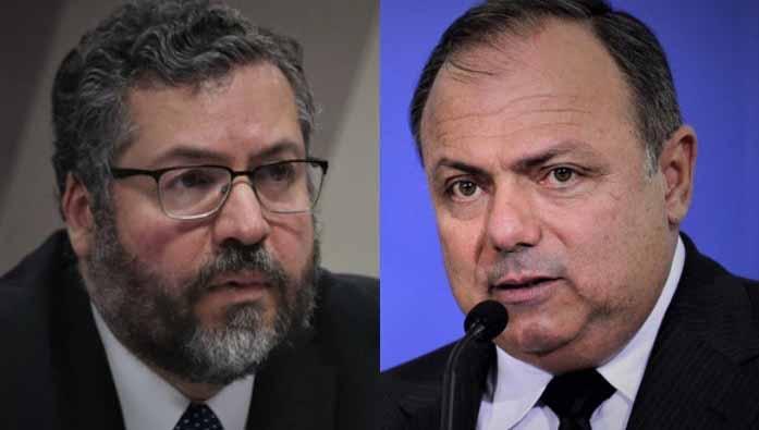CPI quebra sigilo telefônico de ex-ministros Pazuello e Ernesto Araújo