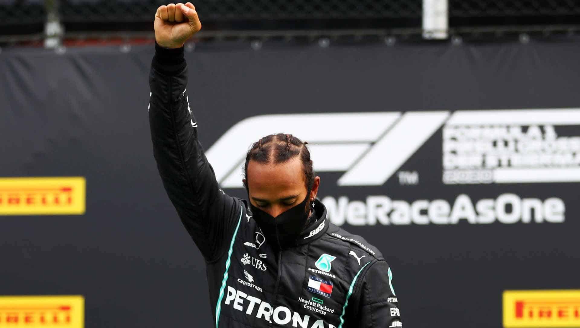 Hamilton apoia protestos no Brasil