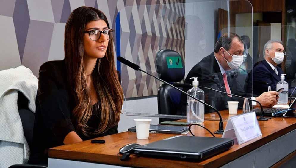 """Após ser citada, Mia Khalifa 'aparece' na CPI: """"Uma mulher do povo"""""""