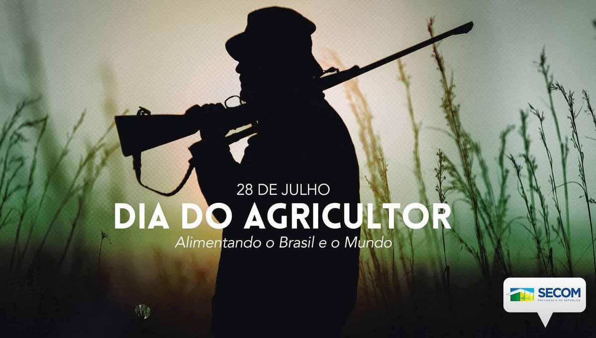 Governo homenageia agricultores com homem armado