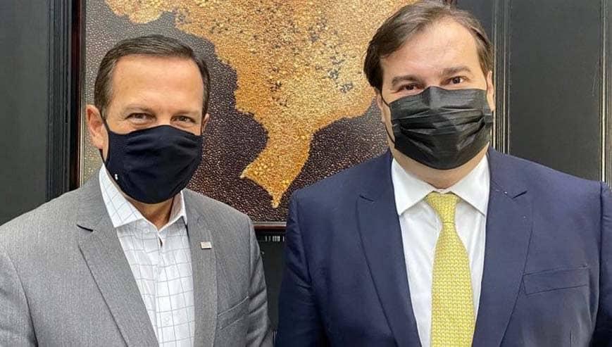 Doria anuncia Rodrigo Maia como secretário