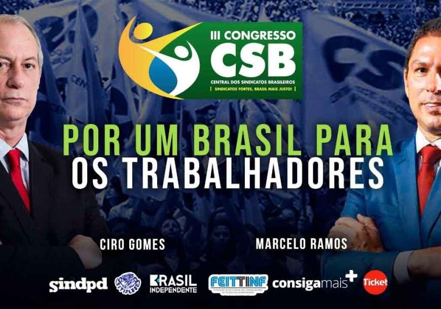 Ciro Gomes debate trabalho com vice da Câmara