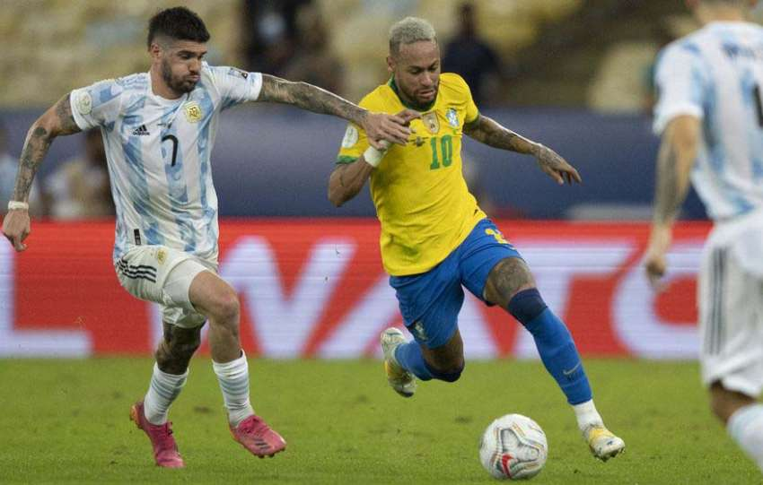Argentina sai de campo contra o Brasil