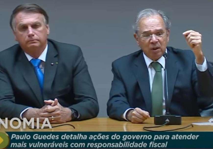 Guedes e Bolsonaro fazem pronunciamento